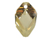 Crystal Golden Shadow - 22mm Swarovski  Cubist Pendant