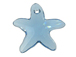 Aquamarine - 16mm Swarovski  Starfish Pendant
