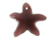 Burgundy - 16mm Swarovski  Starfish Pendant
