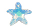 Crystal AB - 16mm Swarovski  Starfish Pendant