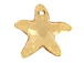 Crystal Golden Shadow - 16mm Swarovski  Starfish Pendant