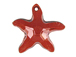 Crystal Red Magma - 16mm Swarovski  Starfish Pendant