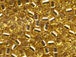 50 gram   SILVER LINED GOLD  Delica Seed Beads11/0