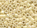 50 gram   OPAQUE CREAM AB Delica Seed Beads11/0