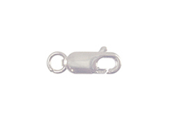 10mm <b>SILVER FILLED</b> Lobster Claw Clasp With Ring