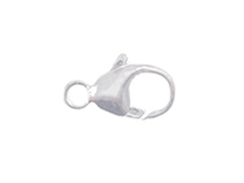 13mm <b>SILVER FILLED</b> Oval Trigger Lobster Claw Clasp With Built-In Ring