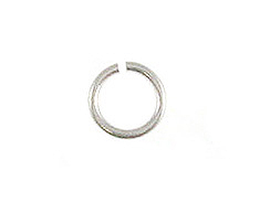 4mm Round <b>SILVER FILLED</b> Open Jump Ring 22 Gauge