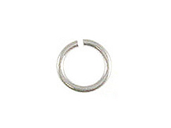 6mm Round <b>SILVER FILLED</b> Open Jump Ring 22 Gauge