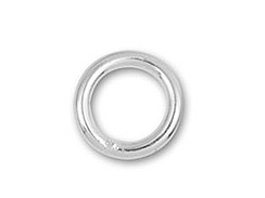 4mm Round <b>SILVER FILLED</b> Closed Jump Ring 22 Gauge