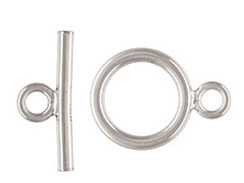 9mm <b>SILVER FILLED</b> Toggle Clasp