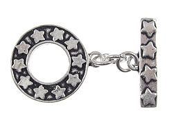 21mm Round Sterling Silver Toggle Clasp