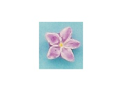 Pink Iris - Teeny Tiny Peruvian Ceramic Bead