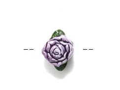Purple Rose - Teeny Tiny Peruvian Ceramic Bead