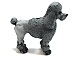 Grey Poodle Standing Large Size Peruvian Ceramic Bead