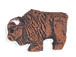 Brown Buffalo - Teeny Tiny Peruvian Ceramic Bead