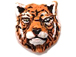Orange Tiger Head - Teeny Tiny Peruvian Ceramic Bead