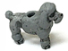 Standing Grey Poodle - Teeny Tiny Peruvian Ceramic Bead