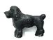 Black Poodle - Teeny Tiny Peruvian Ceramic Bead