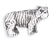 White Tiger - Teeny Tiny Peruvian Ceramic Bead