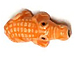 Orange Gator - Teeny Tiny Peruvian Ceramic Bead