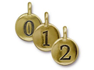 Number Charms - Gold Plated