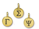 Greek Alphabet Charms - Gold Plated