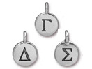 Greek Alphabet Charms - Silver Plated