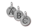 Alphabet Charms - Silver Plated