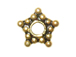 Vermeil 6mm Oxidized 5 Point Star Daisy