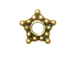 Vermeil 5mm 5 Point Star Oxidized Daisy
