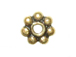 Vermeil 4mm Oxidized Daisy