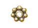 Vermeil 5mm 7dot Oxidized Daisy