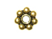 Vermeil 6mm 7dot Oxidized Daisy Spacer