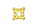 Vermeil 5mm Bright Square Daisy