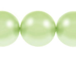 Mint Green 14mm Round  Glass Pearls